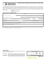 Form AA-AUD 1 International Registration Plan Audit Appeal Form - New York