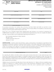 Form DS-3 Article 19-a Motor Carrier Annual Affidavit of Compliance - New York