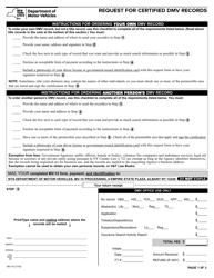 Form MV-15 Request for Certified DMV Records - New York