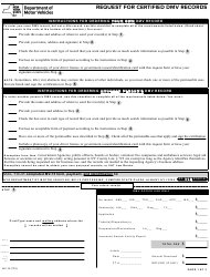 Form MV-15 Request for Certified DMV Records - New York