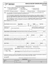 Form MV-65 Vehicle Escort Driver Application - New York