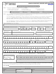 Form MV-65 Vehicle Escort Driver Application - New York