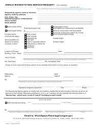 "Form 125617 ""Single Workstation Service Request"" - Oregon"