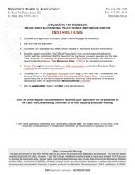 """Application for Minnesota Registered Accounting Practitioner (Rap) Registration"" - Minnesota"