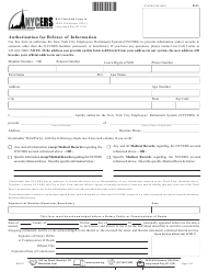 """Form 615 """"Authorization for Release of Information"""" - New York City"""