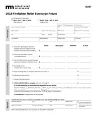 Form IG 257 2018 Firefighter Relief Surcharge Return - Minnesota