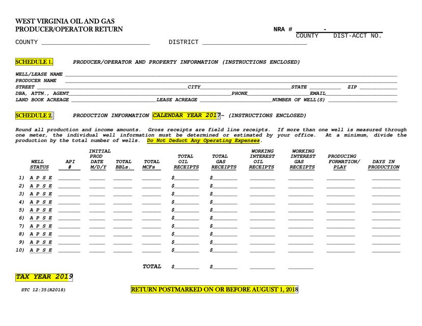 Form STC-1235 2019 Printable Pdf