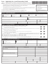 Form LPC-1 Application for a Land Preservation Credit - Virginia