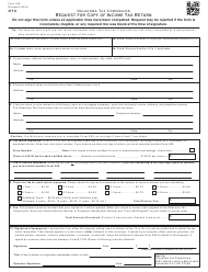 OTC Form 599 Request for Copy of Income Tax Return - Oklahoma