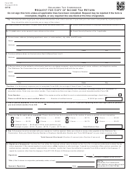 Form 599 Request for Copy of Income Tax Return - Oklahoma