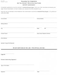 Form 956 Ag Tax Exempt Registration Form Oktap Agreement - Oklahoma