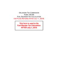 Form DST-220 Form 105-50 - Fuel Blender Tax Calculation - Oklahoma