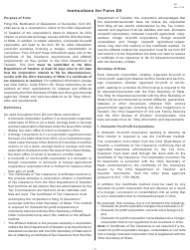 Instructions for Form D5 - Notification of Dissolution or Surrender