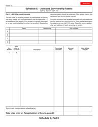 Form ET 2 Schedule E, Part Ii - Joint and Survivorship Assets - Ohio