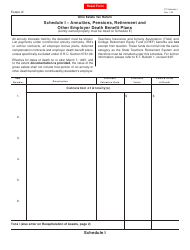 Form ET 2 Schedule I - Annuities, Pensions, Retirement and Other Employer Death Benefit Plans - Ohio
