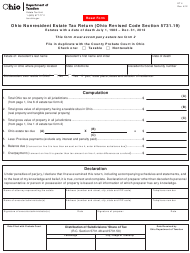 Form ET 4 Ohio Nonresident Estate Tax Return - Estates With a Date of Death July 1, 1983 - Dec. 31, 2012 - Ohio