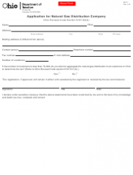 Form MCF 1 Application for Natural Gas Distribution Company - Ohio