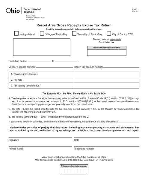 Form RA-10 Printable Pdf