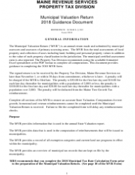 Municipal Valuation Return Guidance Document 2018