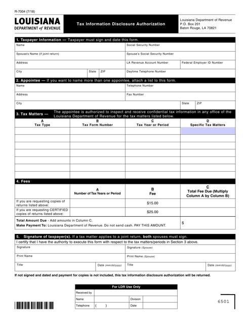 Form R-7004  Printable Pdf