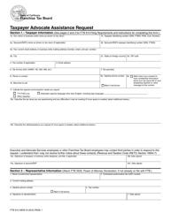 Form FTB 914 Taxpayer Advocate Assistance Request - California