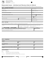 Form 2917 Reasonable Cause - Individual and Fiduciary Claim for Refund - California