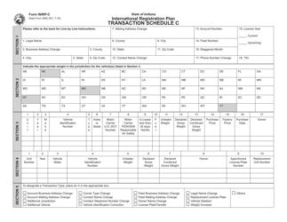 State Form 4950 Form Inirp-C, Transaction Schedule C - International Registration Plan - Indiana
