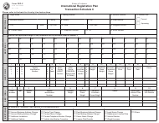State Form 55663 Form Frp-C Transaction Schedule C - International Registration Plan - Indiana