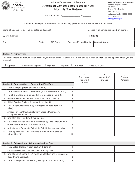 State Form 47737 Fillable Pdf