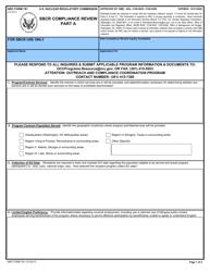 "NRC Form 781 ""Sbcr Compliance Review - Part a"""