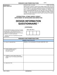 "IAEA Form N-72 ""Design Information Questionnaire"""