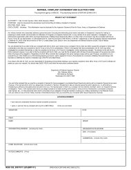 "NGB Form 335 ""Reprisal Complaint Advisement and Election Form"""