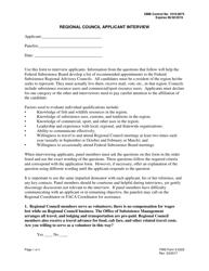 "FWS Form 3-2322 ""Regional Council Applicant Interview"""
