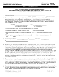 "Form BOEM-1019 ""Insurance Certificate"""