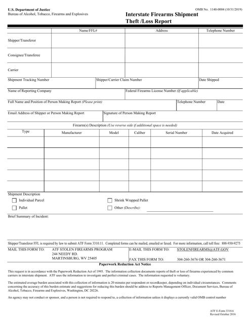 ATF Form 3310.6 Fillable Pdf