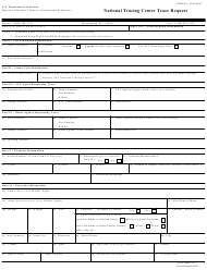 ATF Form 3312.1 National Tracing Center Trace Request