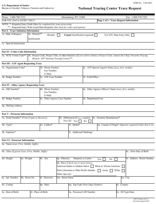 ATF Form 3312.1 Fillable Pdf