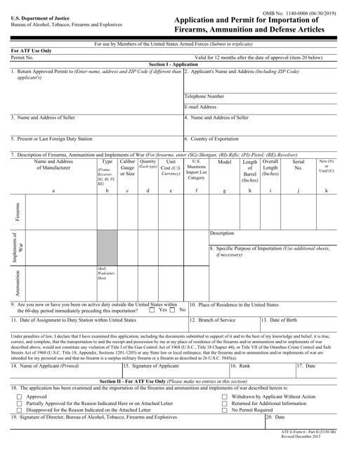 ATF Form 5330.3B (6) Part 2 Printable Pdf