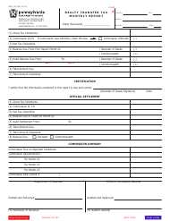 Form REV-715 Realty Transfer Tax Monthly Report - Pennsylvania