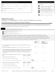 "Official Form 122C-1 ""Chapter 13 Statement of Your Current Monthly Income and Calculation of Commitment Period"""