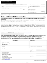 "Official Form 309I ""Notice of Chapter 13 Bankruptcy Case"""
