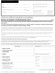 "Official Form 309G ""Notice of Chapter 12 Bankruptcy Case"""