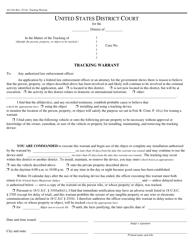 Form AO 104 Tracking Warrant