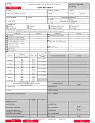 "Form AO435 ""Transcript Order"""