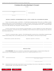 """Form AO85 """"Notice, Consent, and Reference of a Civil Action to a Magistrate Judge"""""""