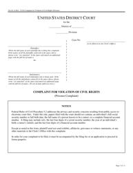 "Form Pro Se14 ""Complaint for Violation of Civil Rights"""
