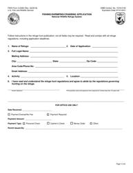 """FWS Form 3-2358 """"Fishing/Shrimping/Crabbing Application"""""""