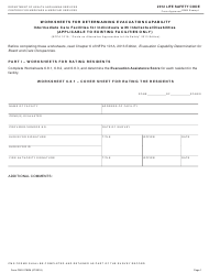 "Form CMS-2786M ""Worksheet for Determining Evacuation Capability - Intermediate Care Facilities for Individuals With Intellectual Disabilities (Existing Facilities Only) - 2012 Life Safety Code"""