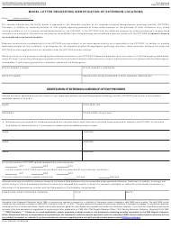 "Form CMS-381 ""Model Letter Requesting Identification of Extension Locations"""