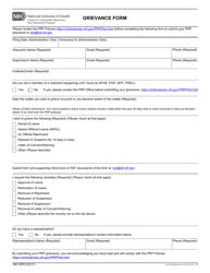 """Form NIH2976 """"Grievance Form"""""""